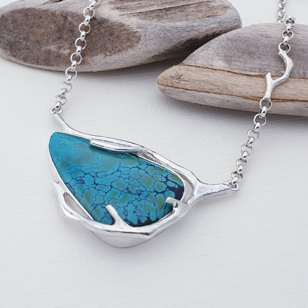 One-off Turquoise Branch Necklace
