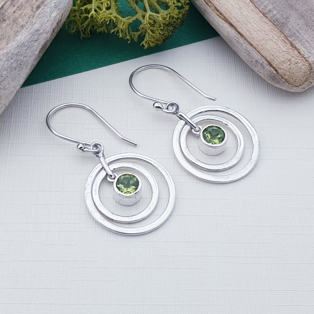 Peridot Circles Earrings