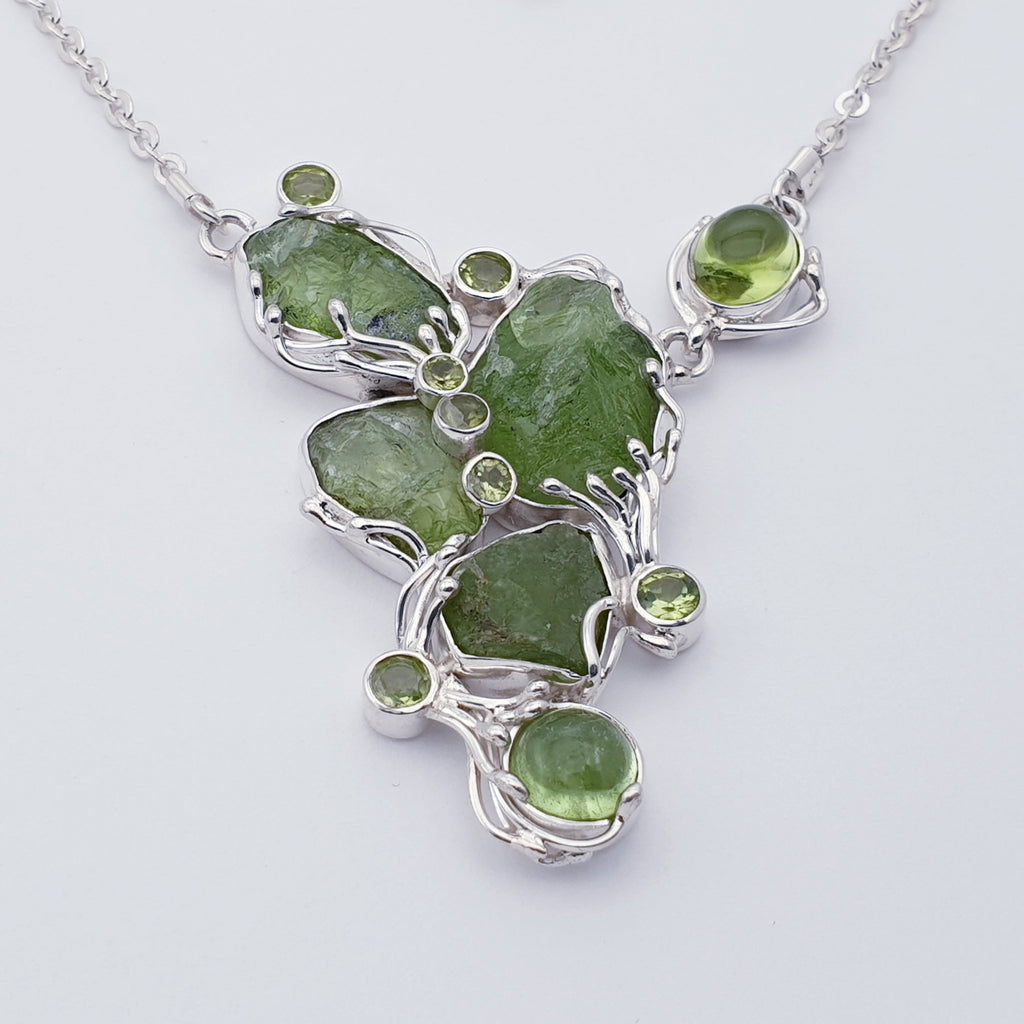 One-off Peridot Mother Earth Necklace