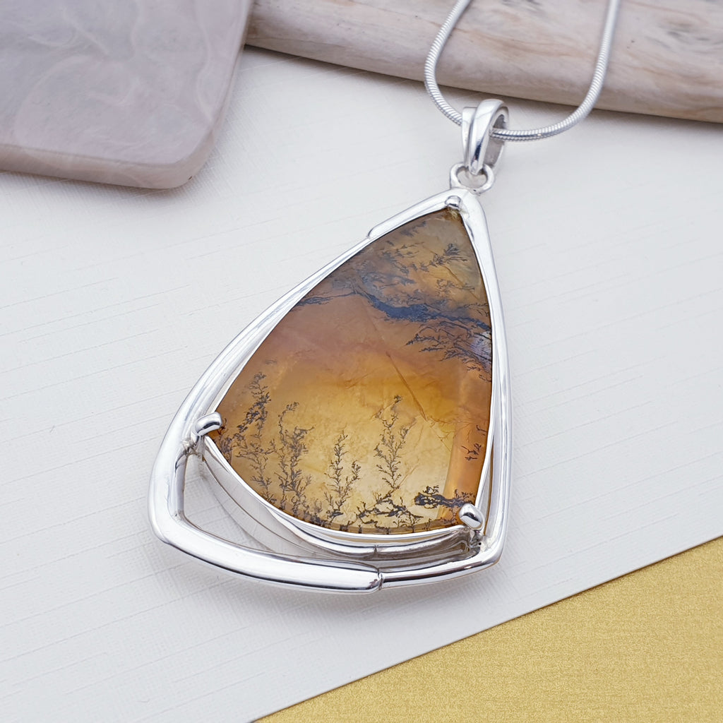 One-off Dendritic Quartz Eleni Pendant