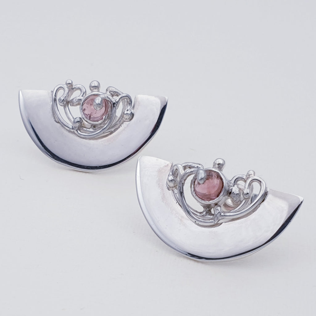 Pink Tourmaline Hestia Stud Earrings