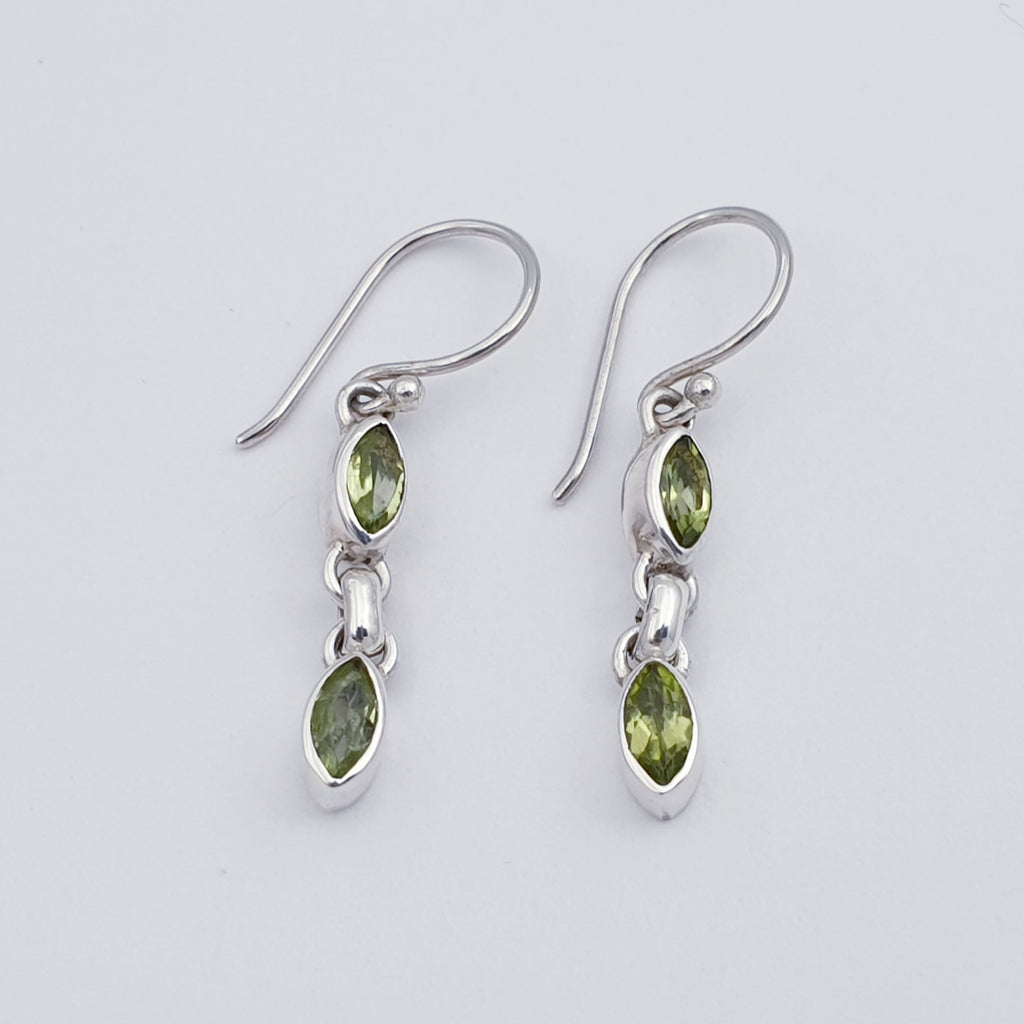 Peridot Double Drop Earrings