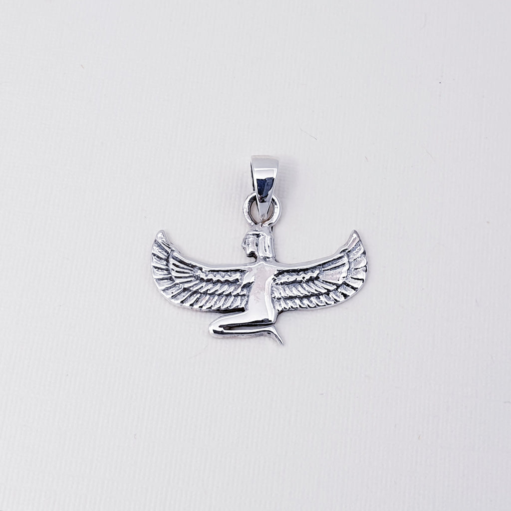 Silver Goddess Isis Pendant