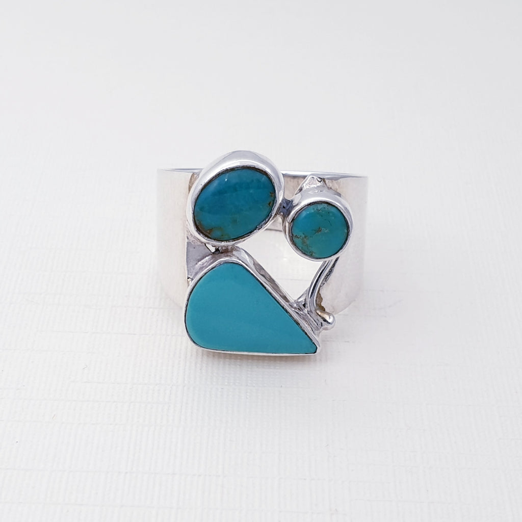 Turquoise Three Stone Ring