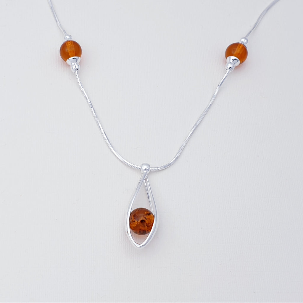 Amber Sphere Necklace