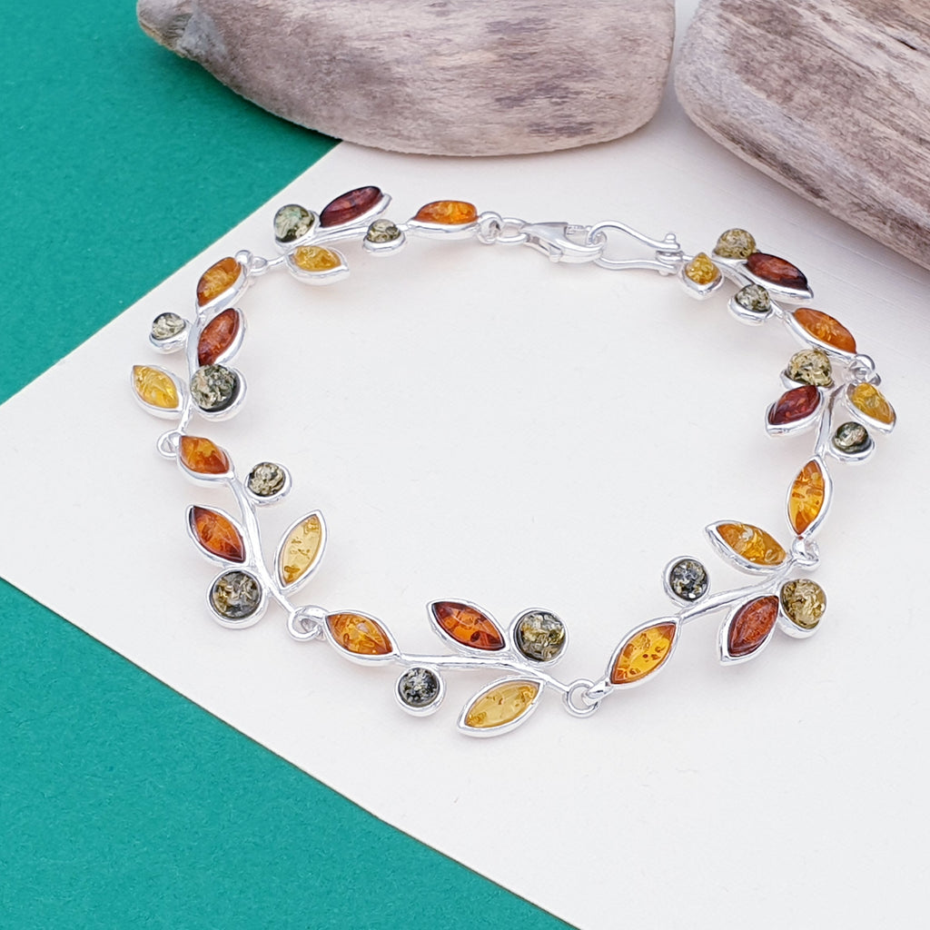 Mixed Amber Spring Bloom Bracelet