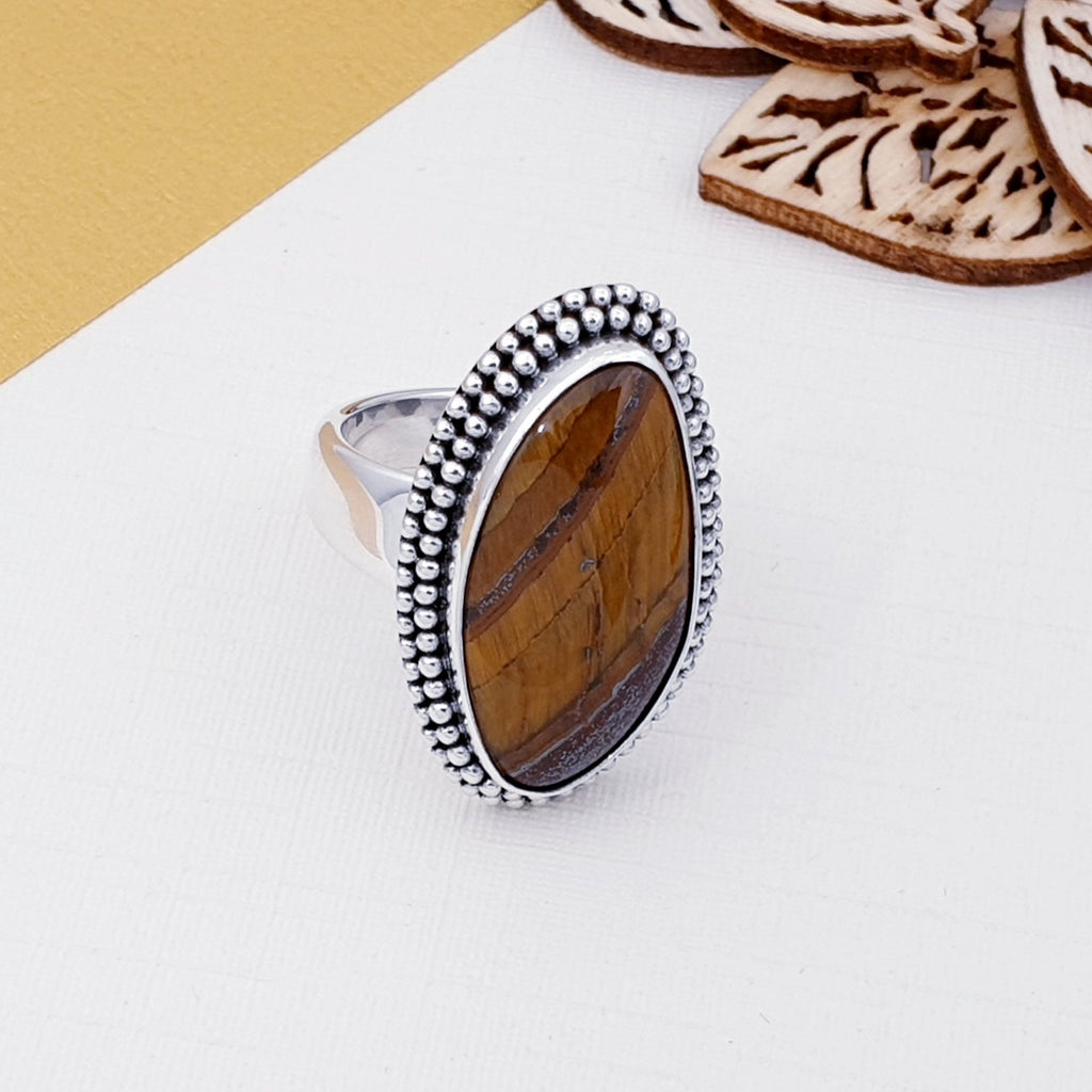 Tiger's Eye Boho Ring