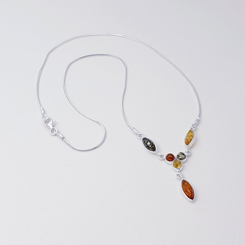 Green or Mixed Amber Tomira Necklace
