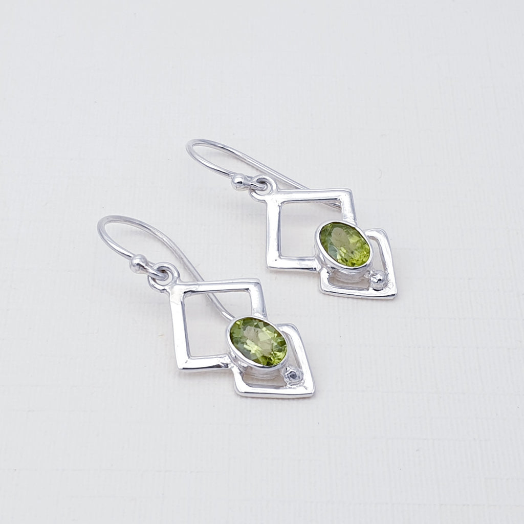 Peridot Triangulum Earrings