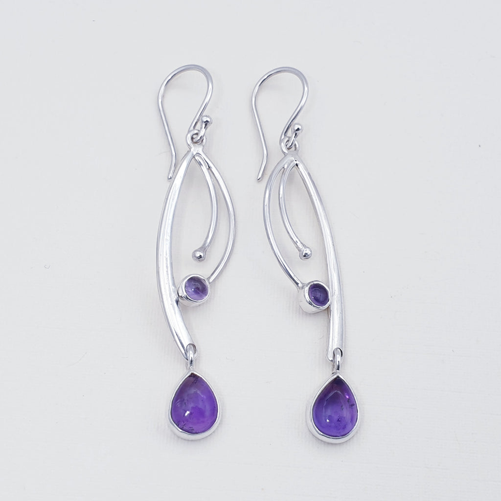 Amethyst Jasmine Earrings