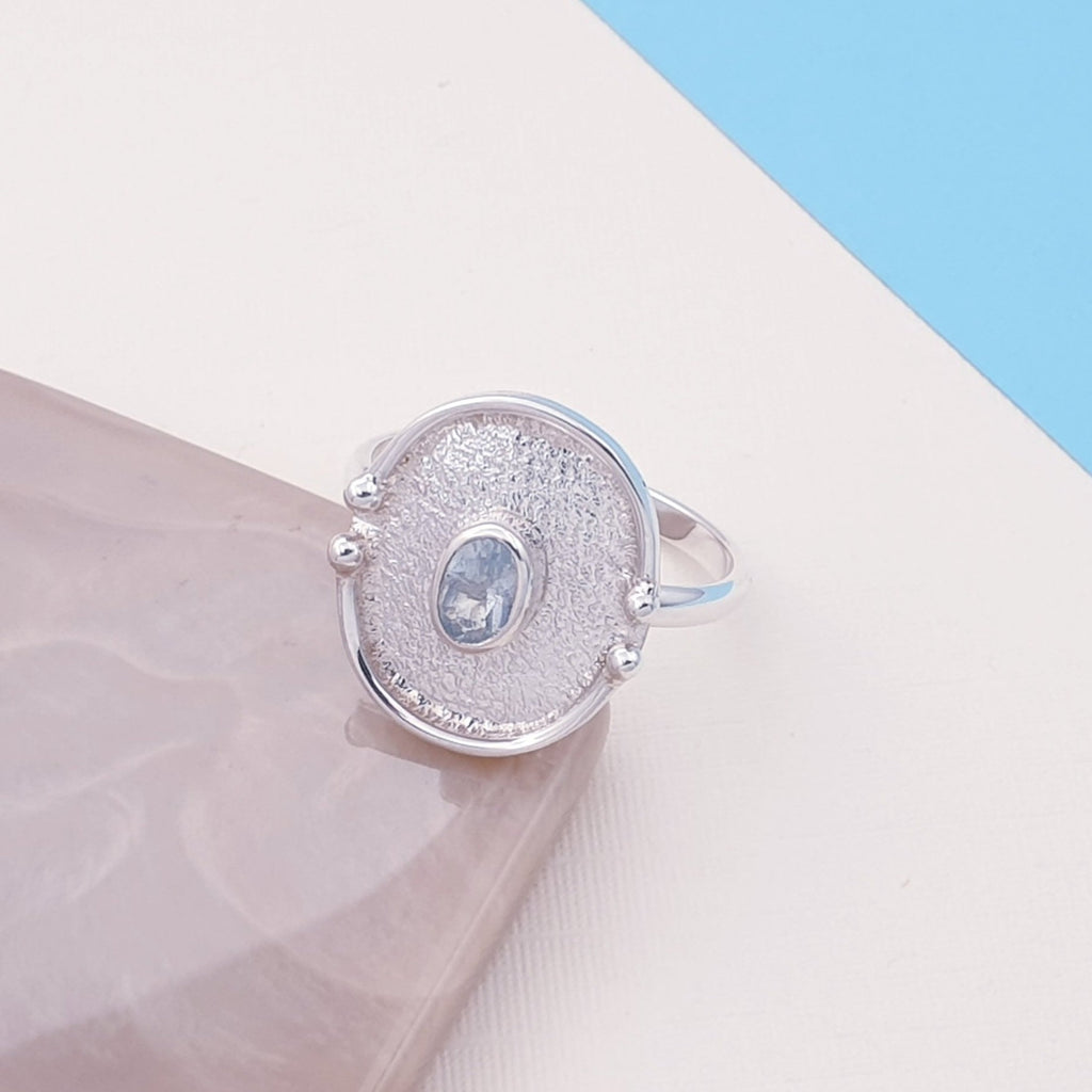 Blue Topaz Oya Ring