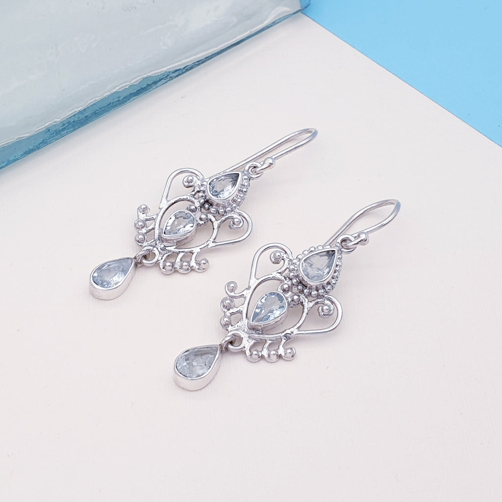 Aquamarine Alectrona Earrings