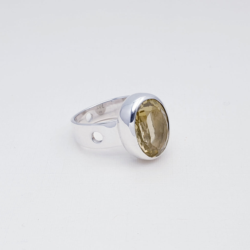 Lemon Quartz Dream Simple Ring Size - R