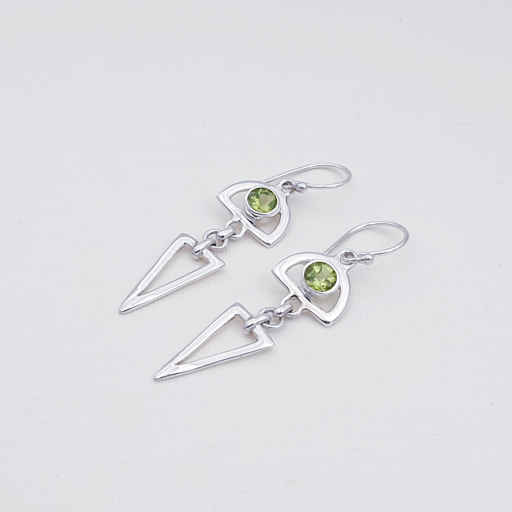 Peridot Hastate Earrings