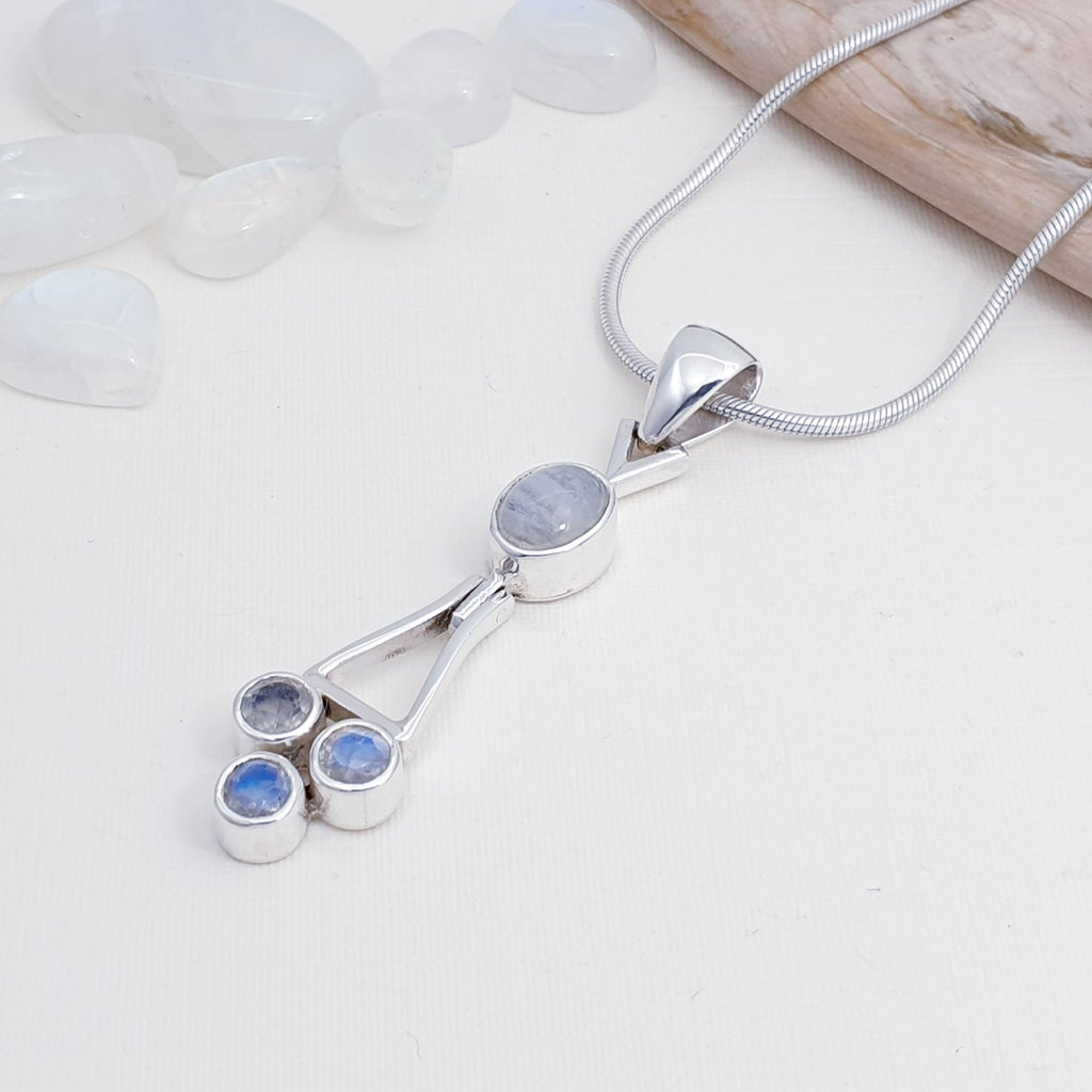 Moonstone Abstract Drop Pendant