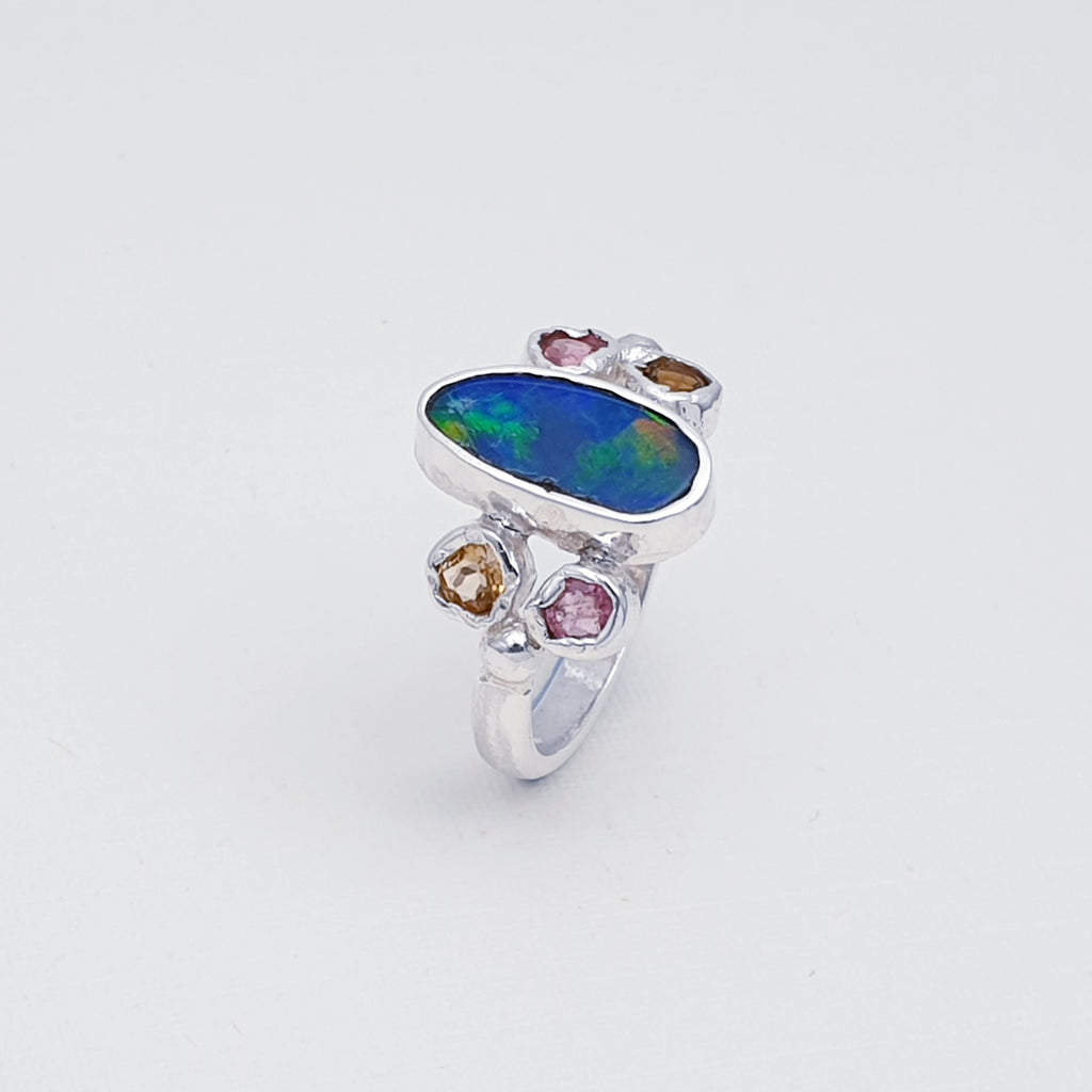 One-off Opal and Tourmaline Manaslu Ring