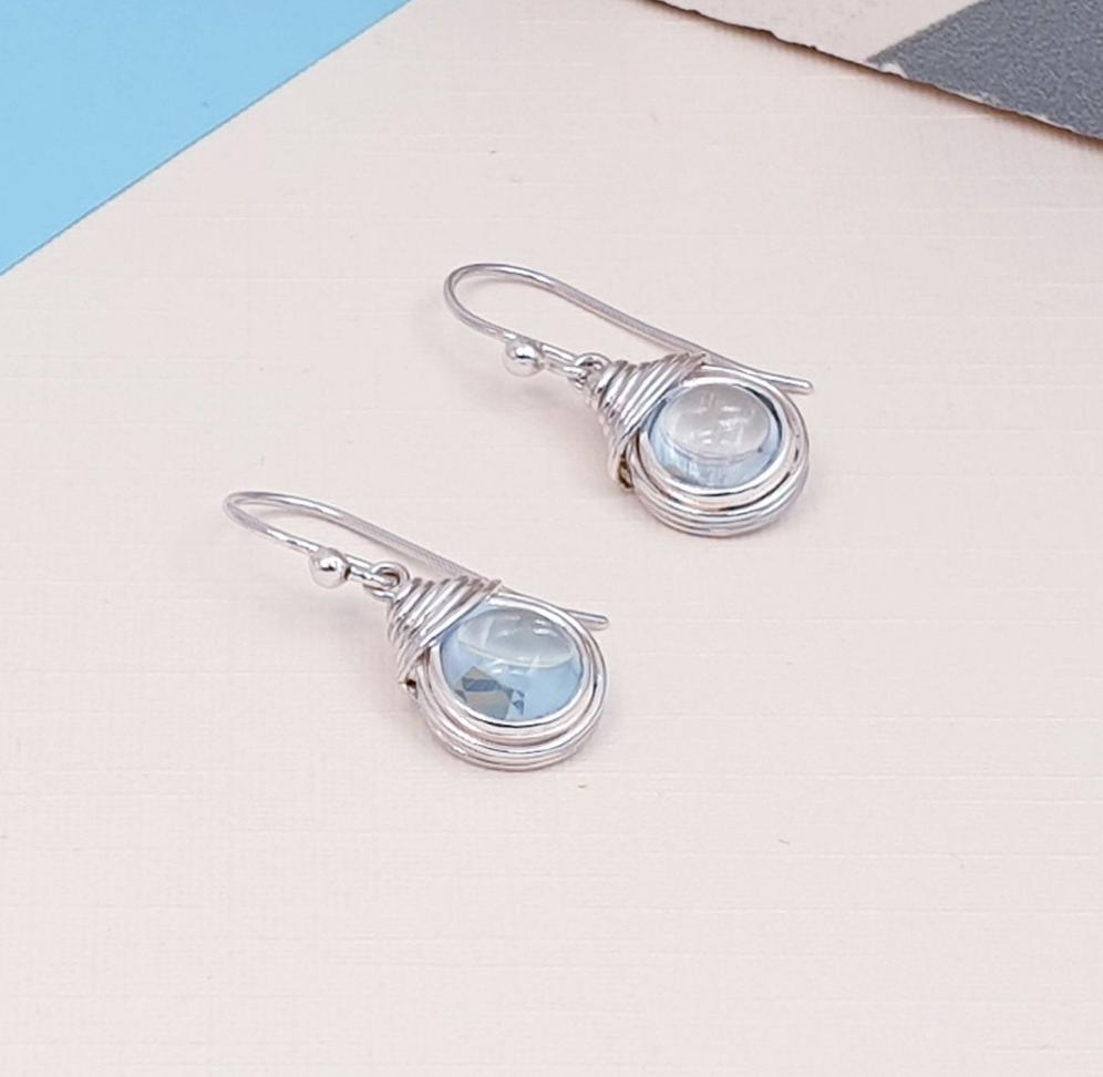Blue Topaz Freya Earrings