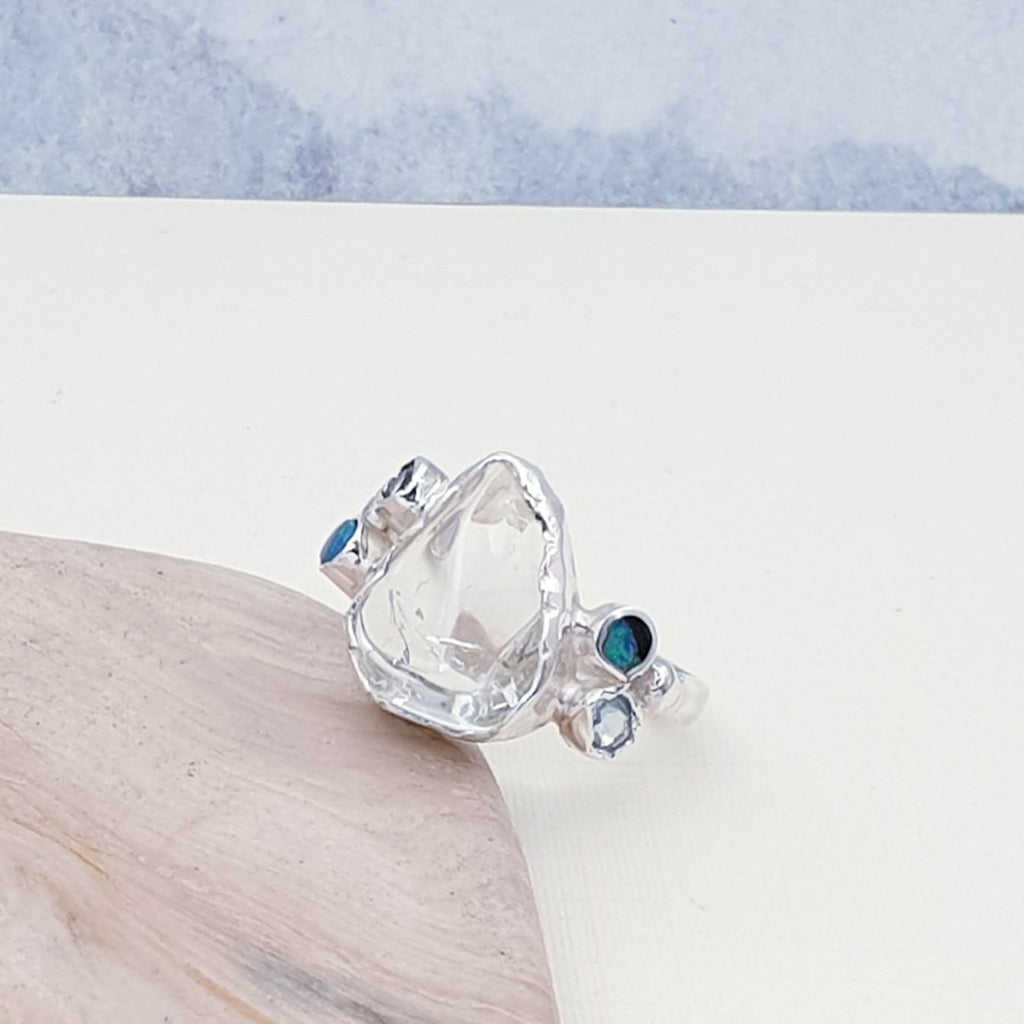 One-off Aquamarine Manaslu Ring - Size Q