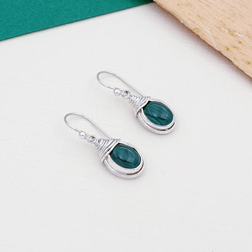 Malachite Freya Earrings