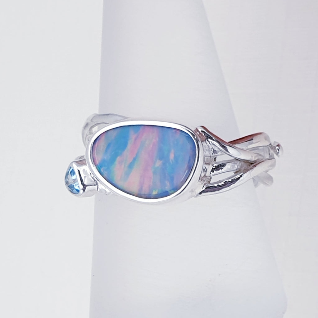 One-off Opal Fenella Ring - Size P