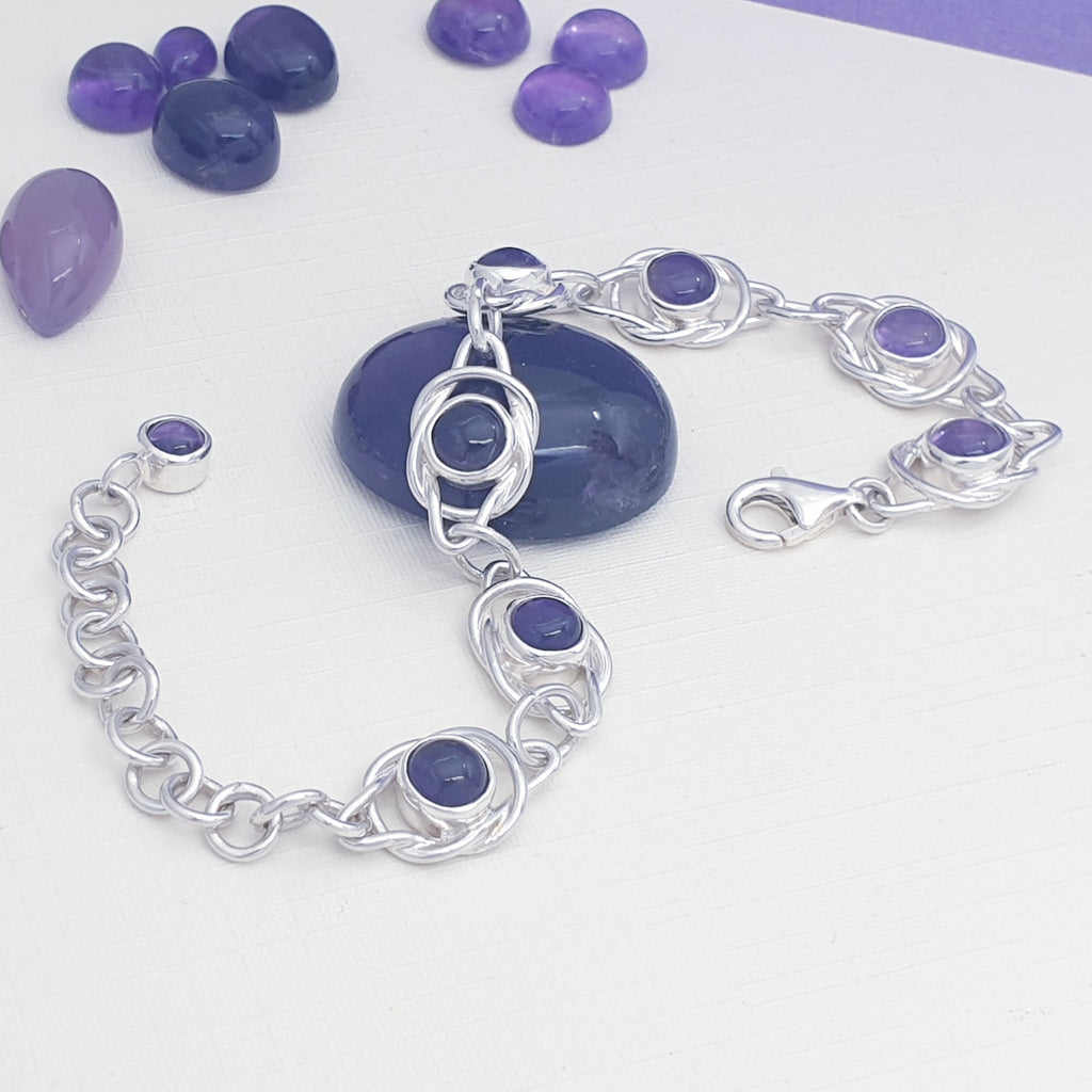 One-off Amethyst Knot Bracelet