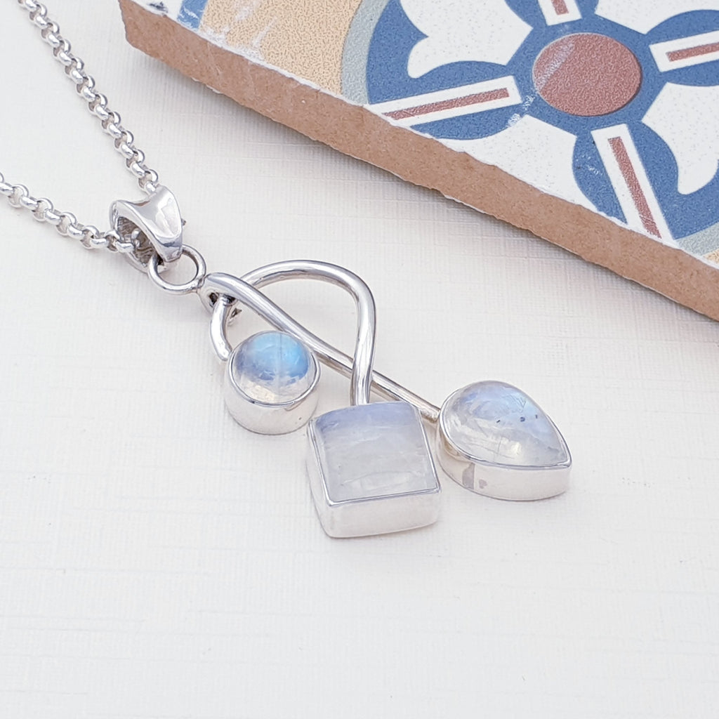One-off Moonstone Multi-shape Pendant