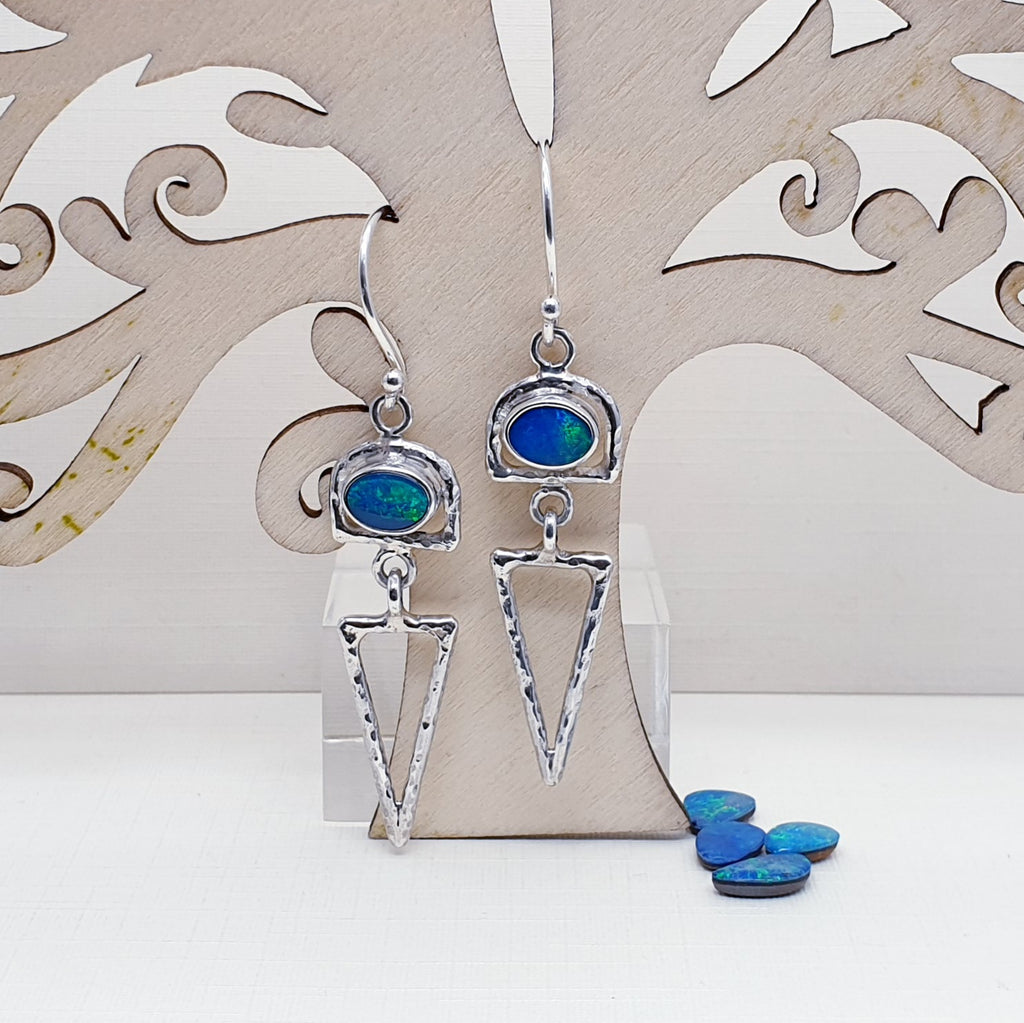 Opal Hastate Earrings
