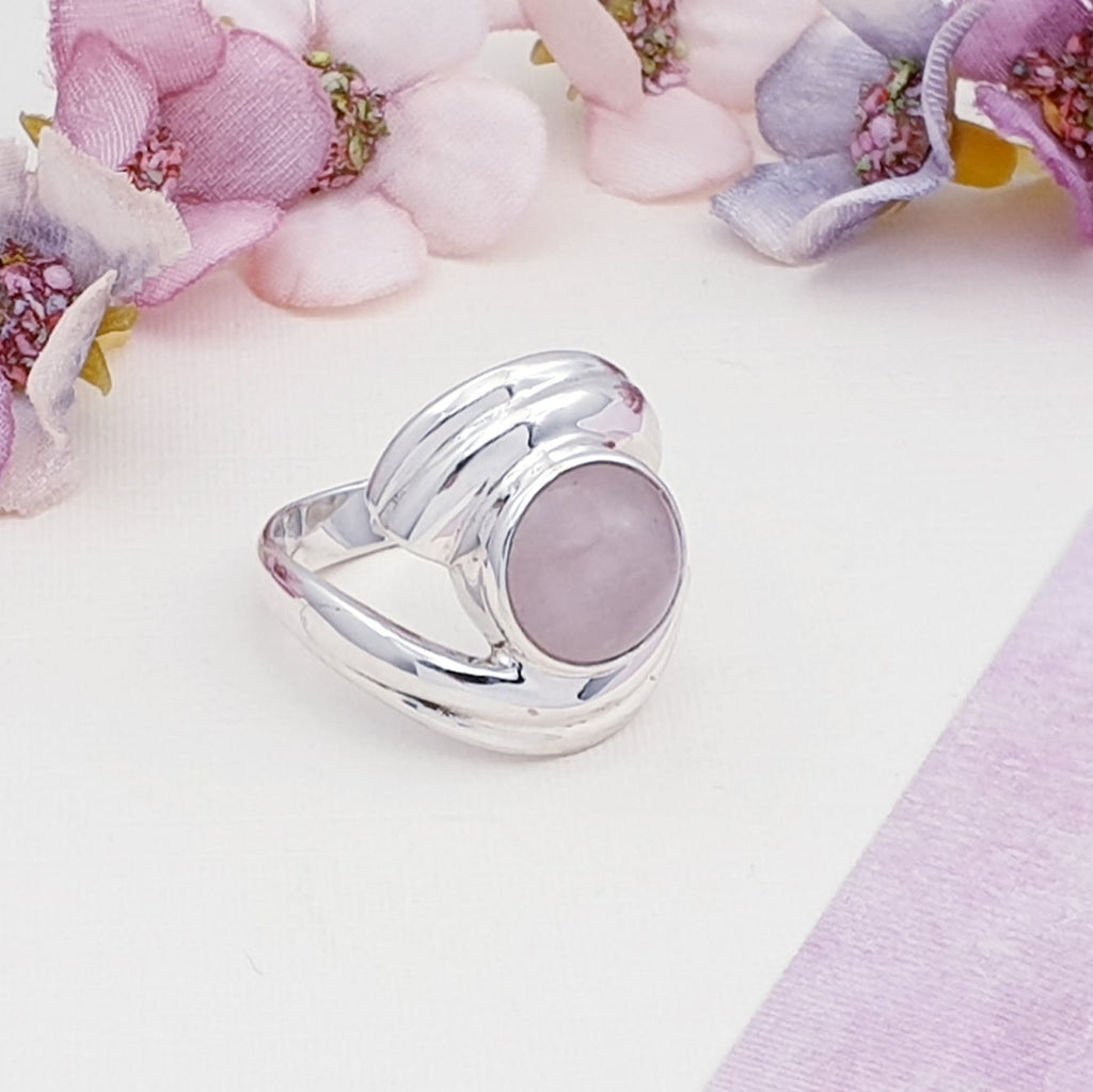 Rose Quartz Zelda Ring