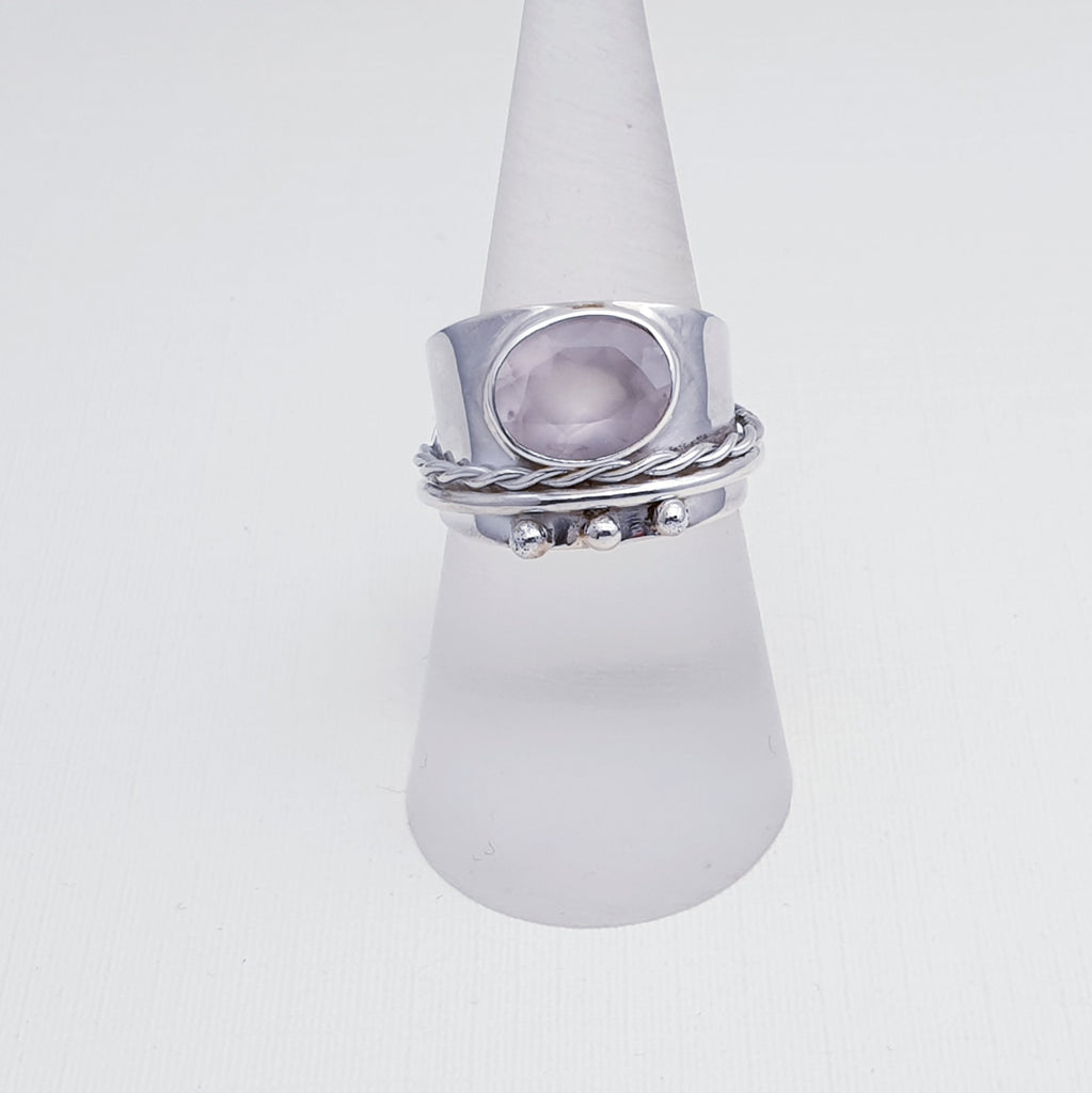 Rose Quartz Adara Ring