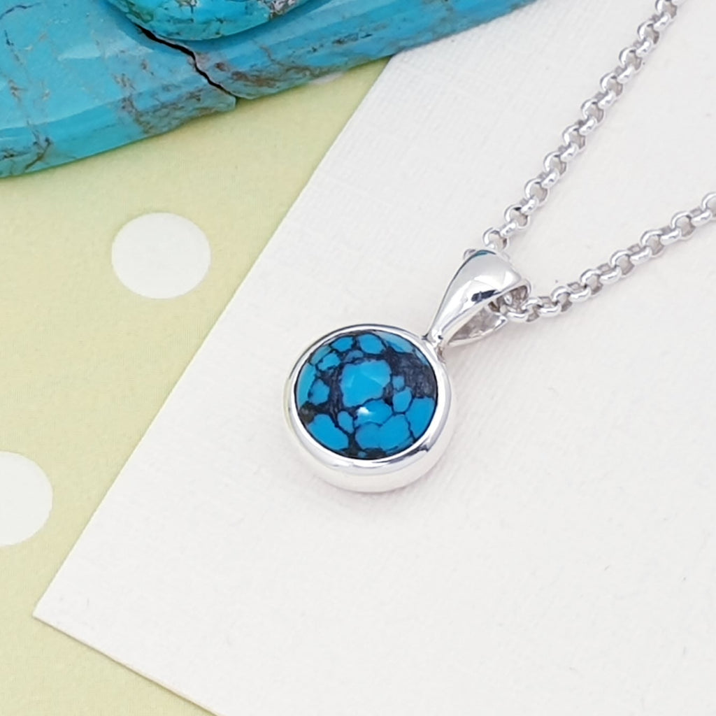 Turquoise Small Circle Pendant