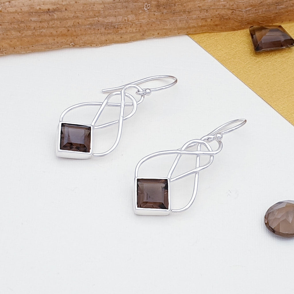 Smoky Quartz Danu Earrings