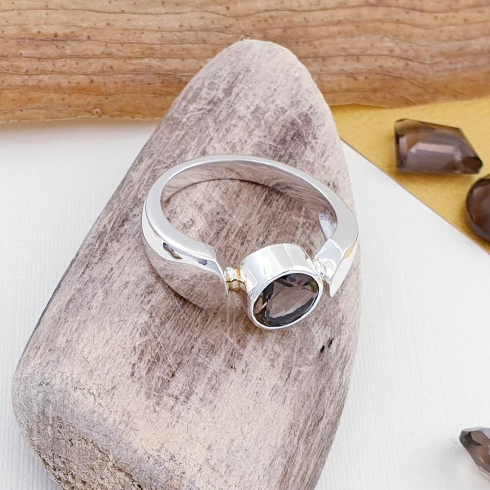 Smoky Quartz Enya Ring