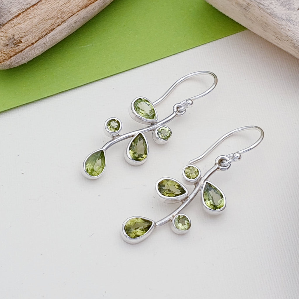 Peridot Summer Berry Earrings