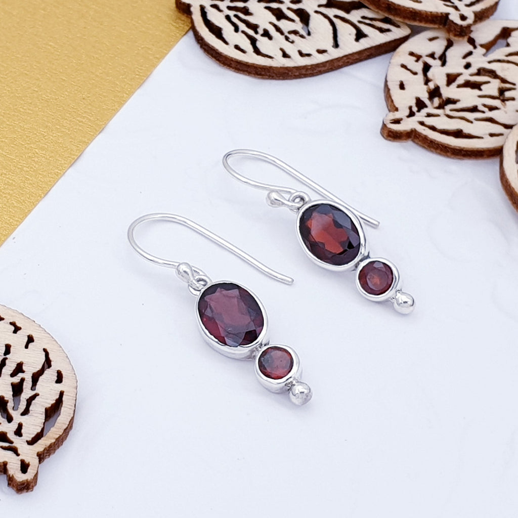 Garnet Keeva Earrings