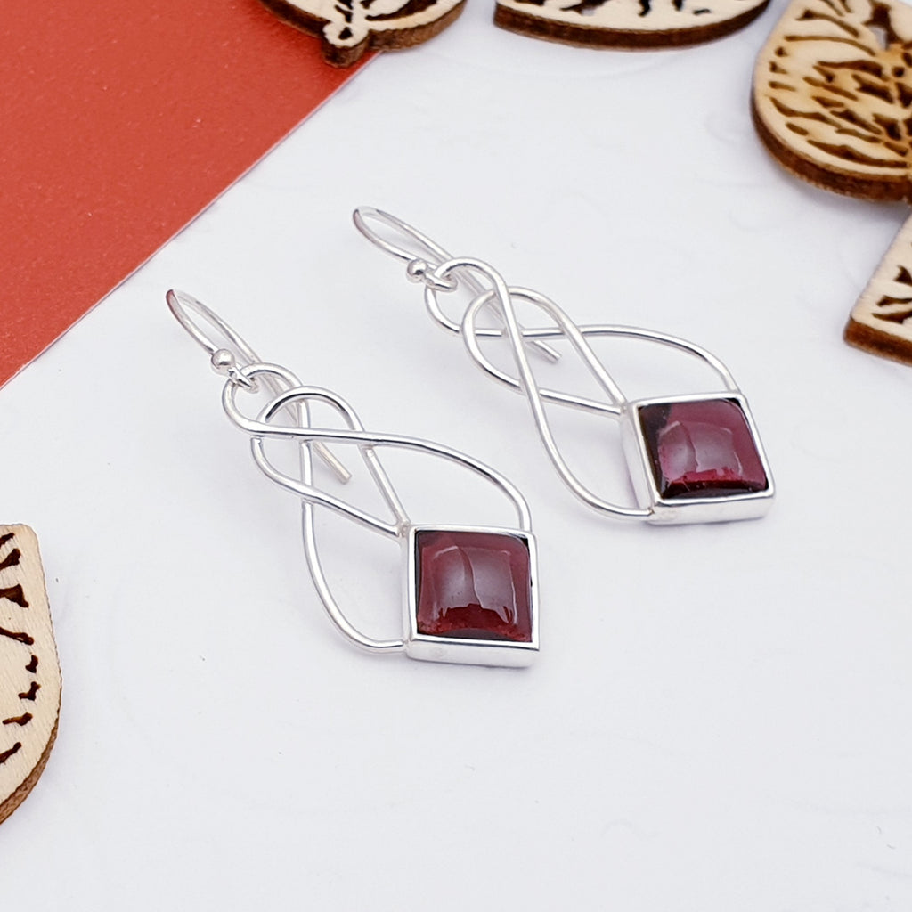 Garnet Danu Earrings