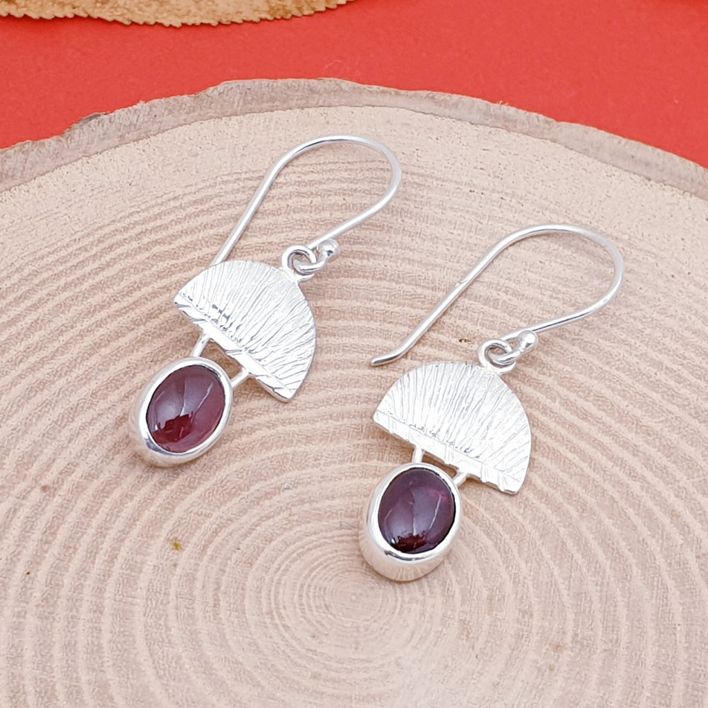 Garnet Greek Goddess Earrings