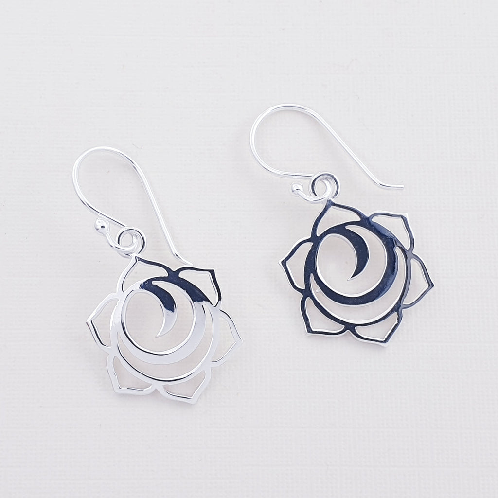 Silver Sacral Chakra Earrings