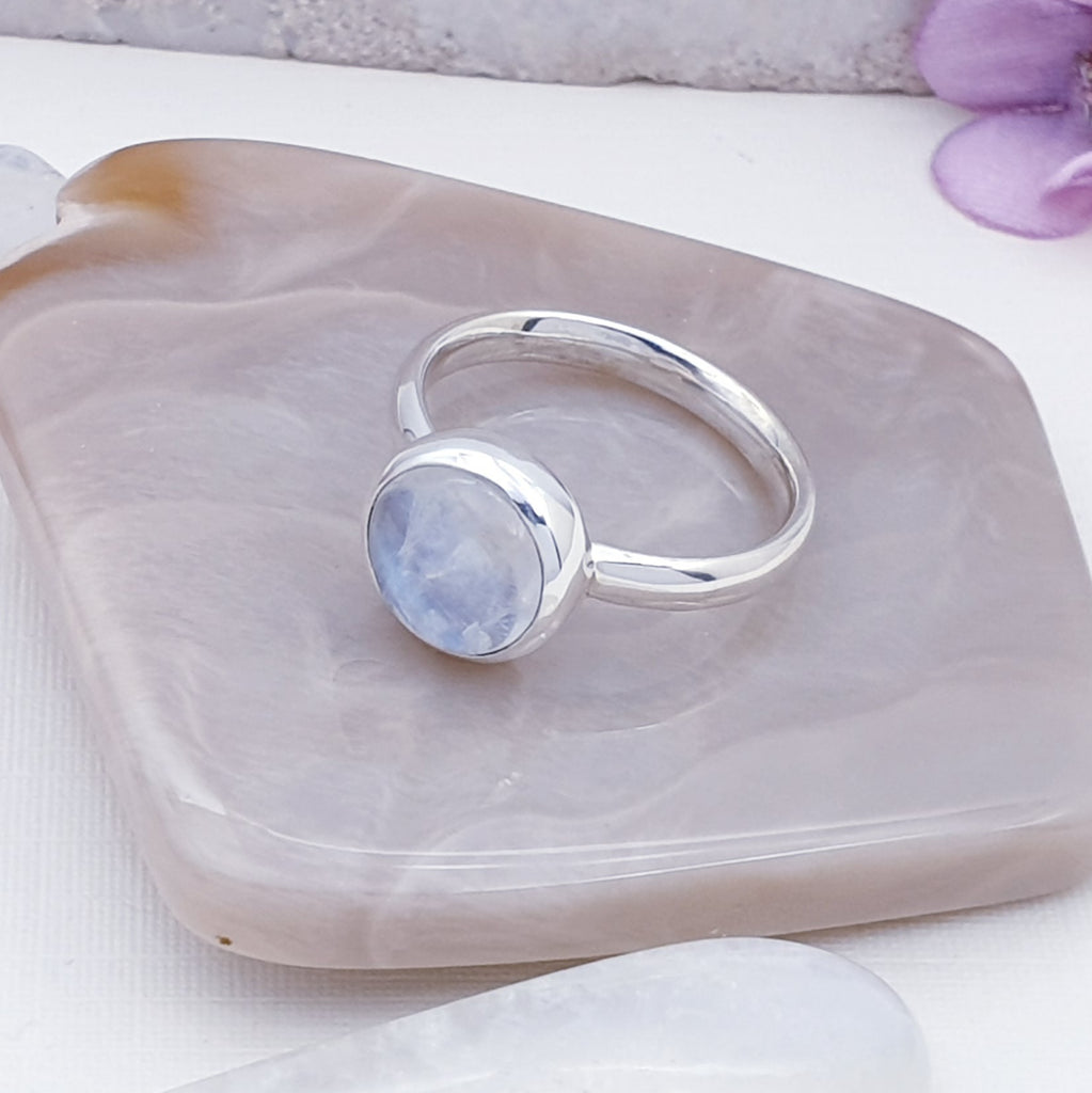 Moonstone Simple Ring