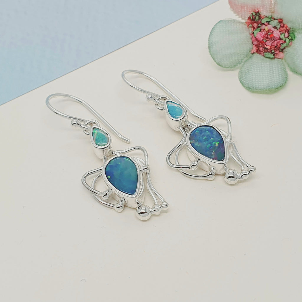 Opal Achelois Earrings - Small