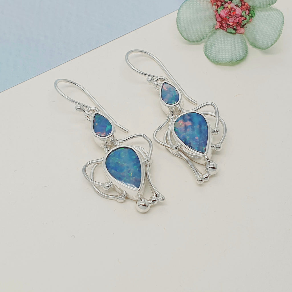Opal Achelois Earrings - Medium