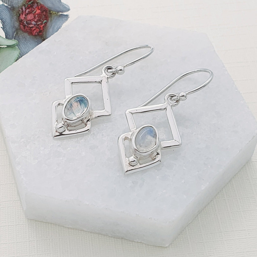 Moonstone Triangulum Earrings