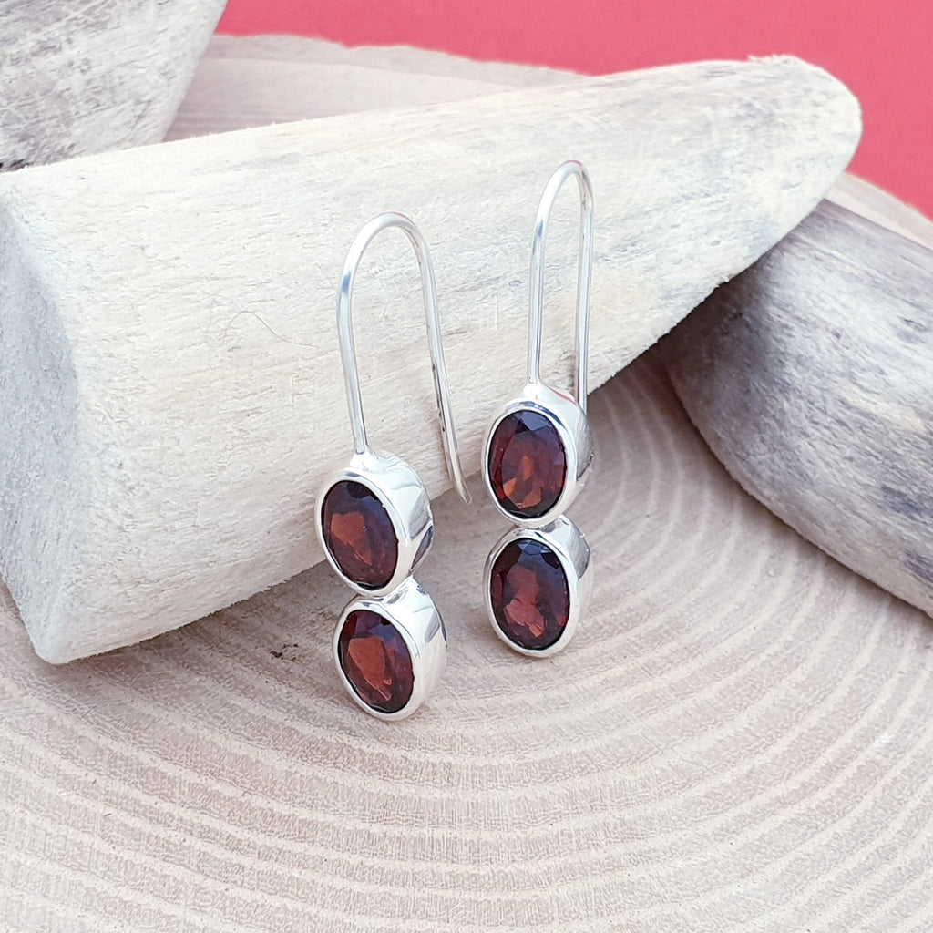 Garnet Cyrell Earrings