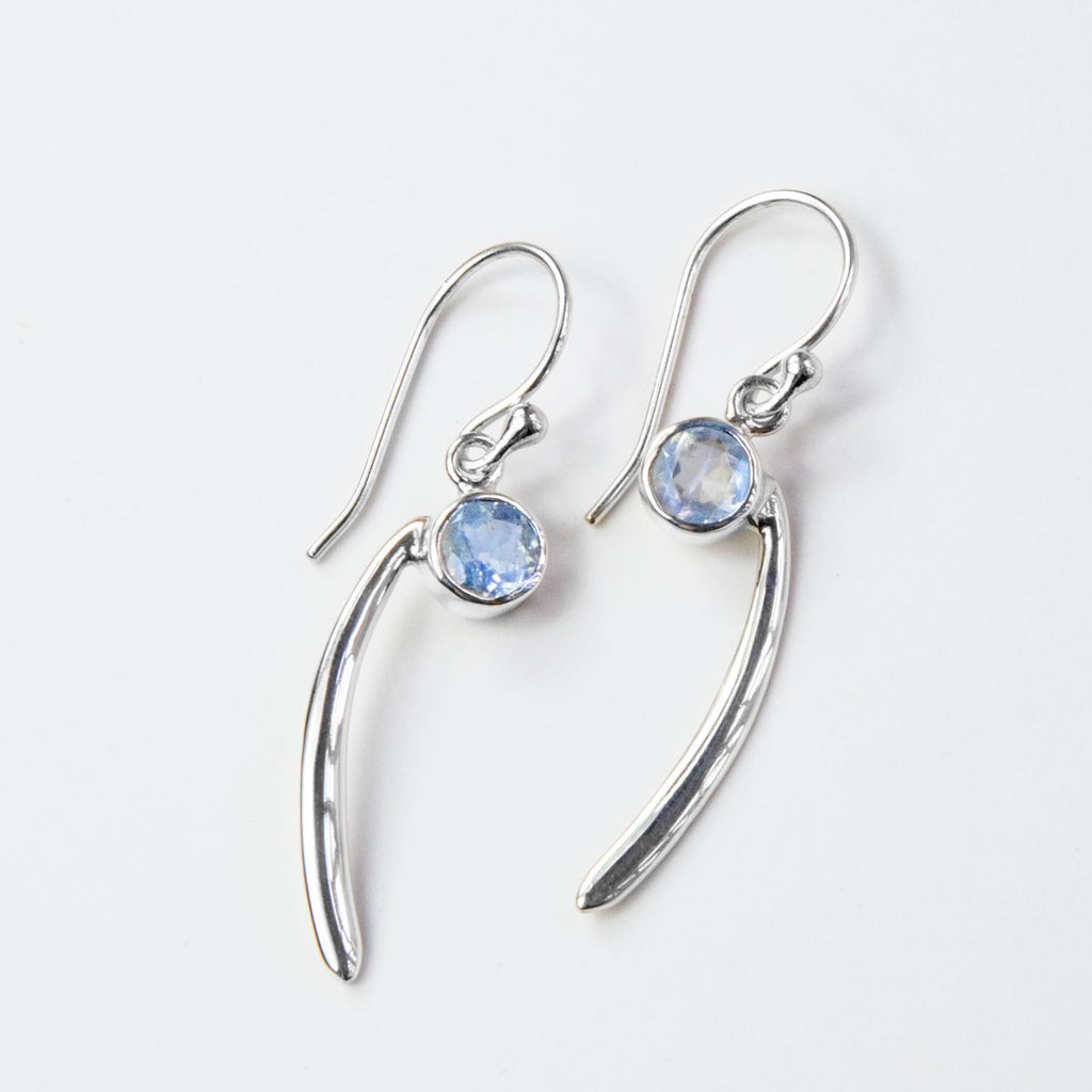 Moonstone Comma Earrings