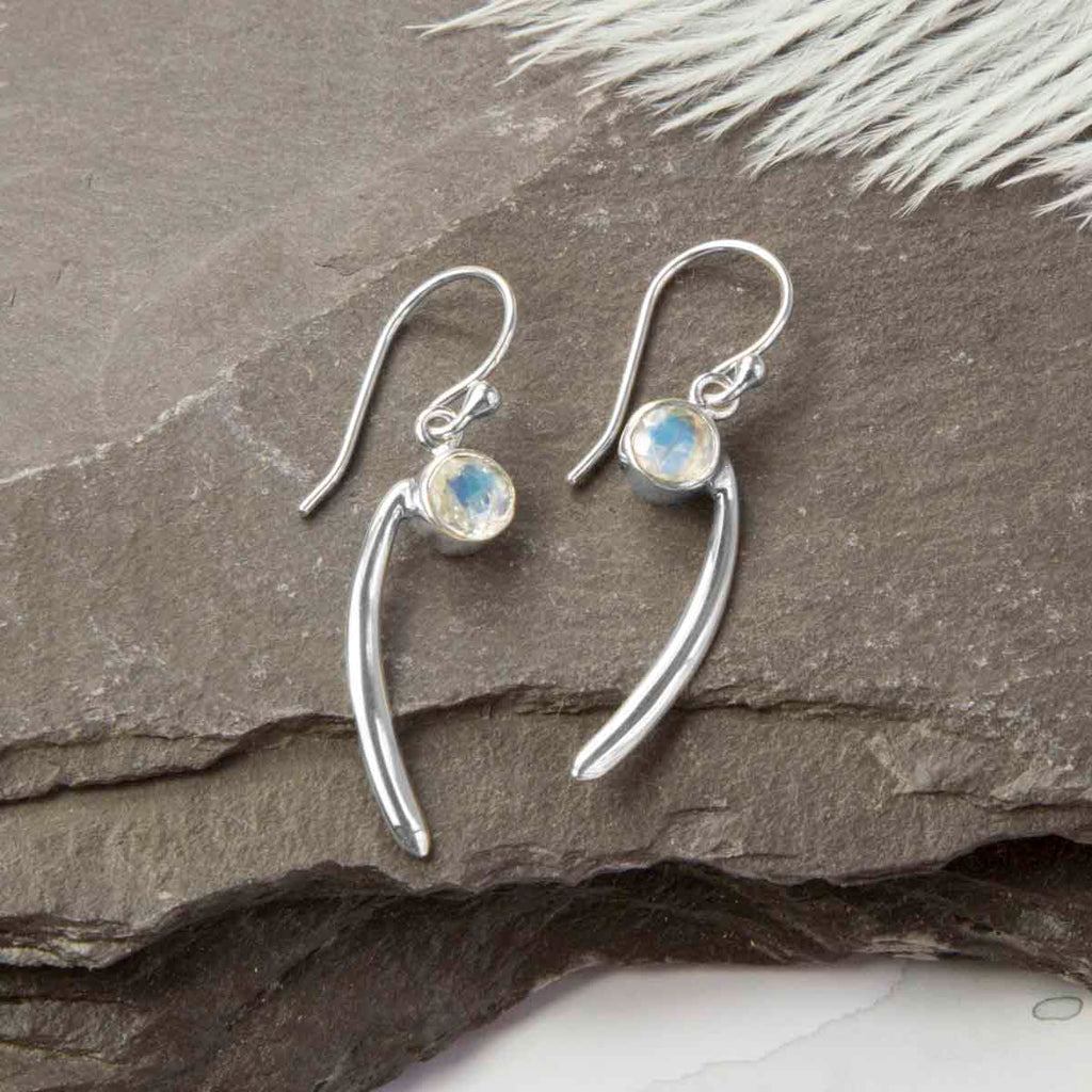 Moonstone Coma Earrings