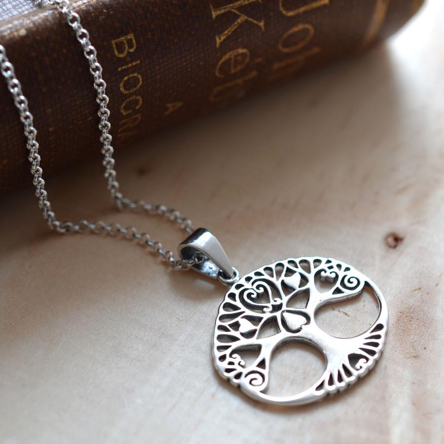 Silver Tree Of Love Necklace