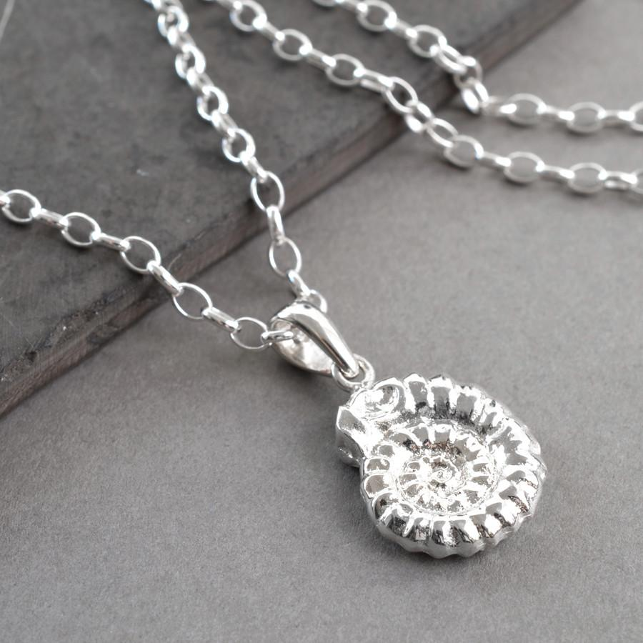 Silver Ammonite Necklace