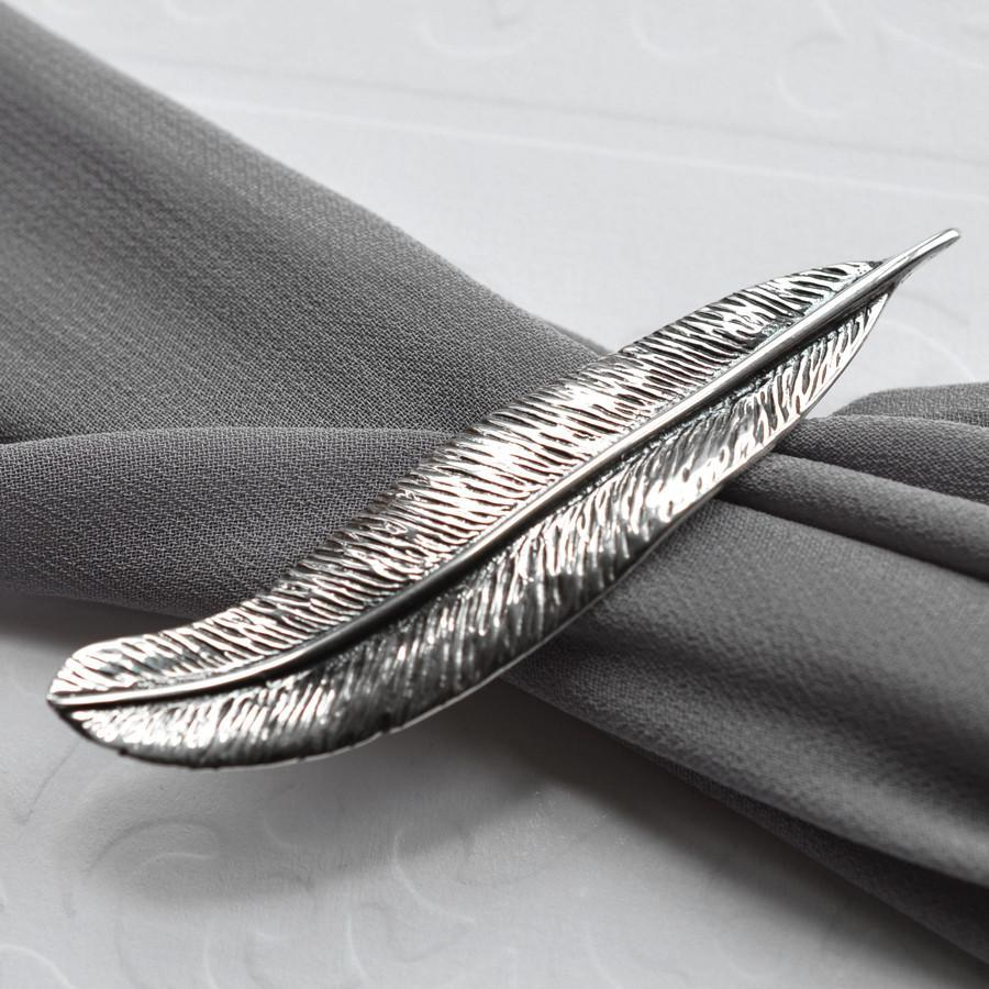 Silver Feather Brooch by Martha Jackson