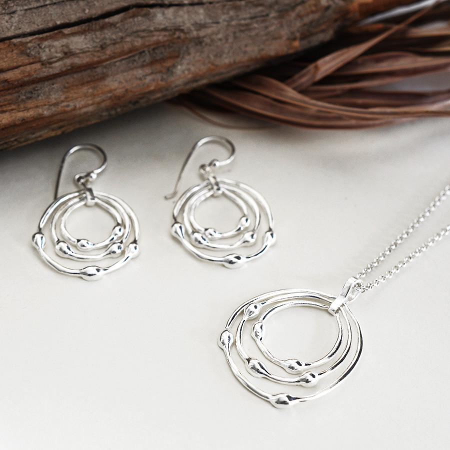 Silver Whirlpool Earrings