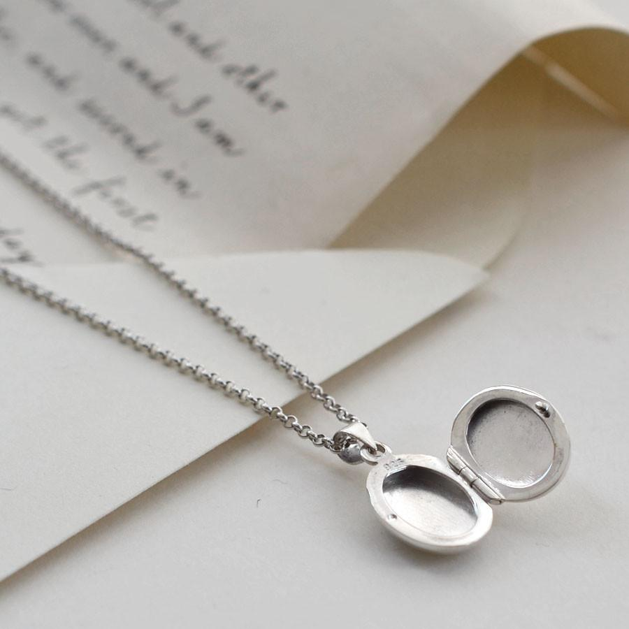 Silver Mini Oval Locket
