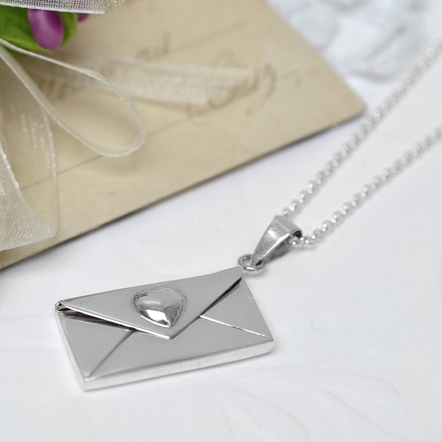 Silver Envelope Locket